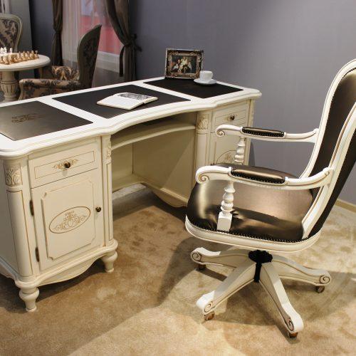 10 Colectia Larisa - Cabinet de lucru - masa de birou alb