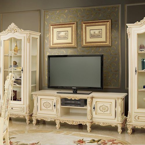 10. Colectia Regal - Living - TV Plasma Alb