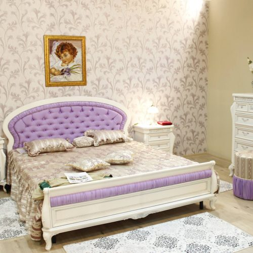 10. Colectia Verona- Dormitor - Alb-Argintiu