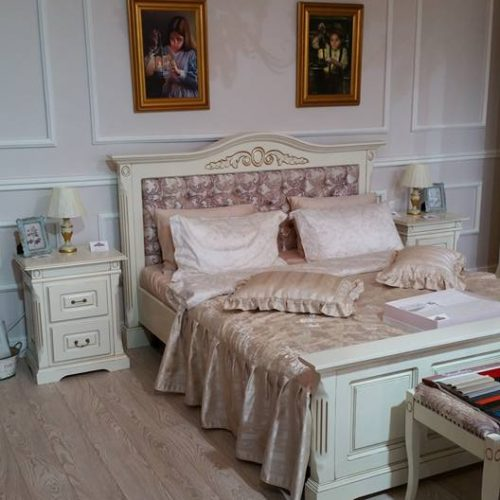 15. Colectia Maria - Dormitor - Pat capitonat