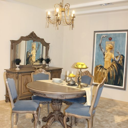 19. Colectia Regal sufragerie - masa, scaune